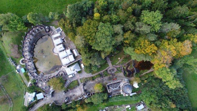 Bruno Weber Park von oben