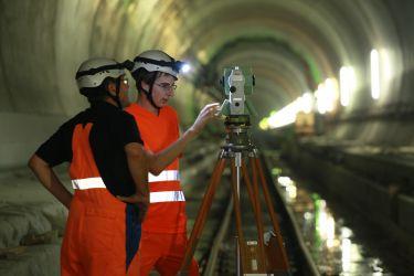 Stationierung im Tunnel