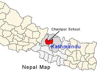 Karte Chainpur Nepal