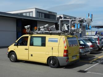 Fahrzeug für mobiles Laserscanning