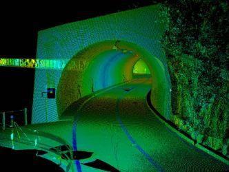 Punktwolke Tunnel